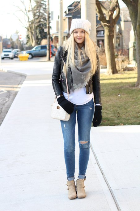 Distressed Denim OOTD!