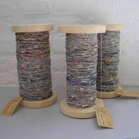 Handspun Recycled Newspaper Yarn – free tutorial alert!