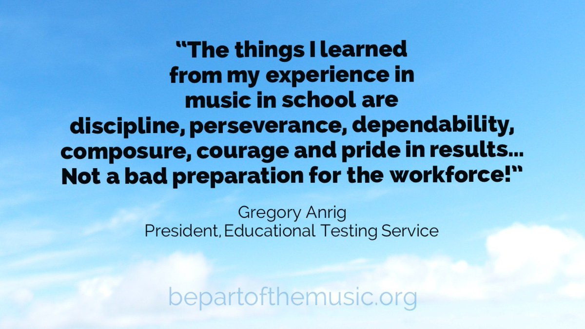 """""""Discipline, perseverance, dependability, composure, courage and pride in results…"""" #musiced #bepartofthemusic<br>http://pic.twitter.com/KZqxkGha72"""