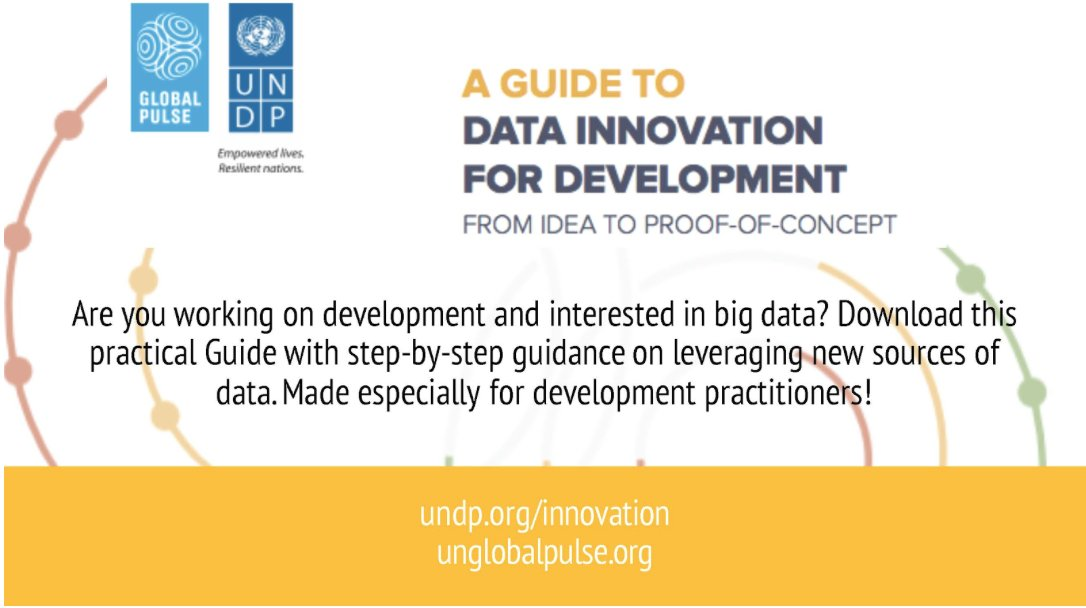 Jump-start your next data innovation project with our practical guide: https://t.co/v5CkvojXCt Created w. @UNDP_innovation #UNDataForum https://t.co/7BMDNvilF5
