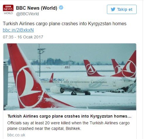 Although @BBCWorld  have since retracted this piece-the cargo plane belonged to ACT-An apology for falsely using the @TurkishAirlines  logo?