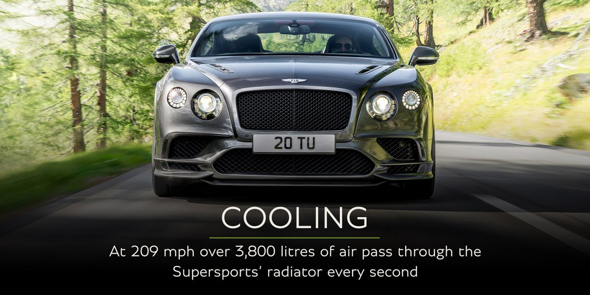 At 209mph more than 3,800 litres of air passes through #Supersports' radiator per second.