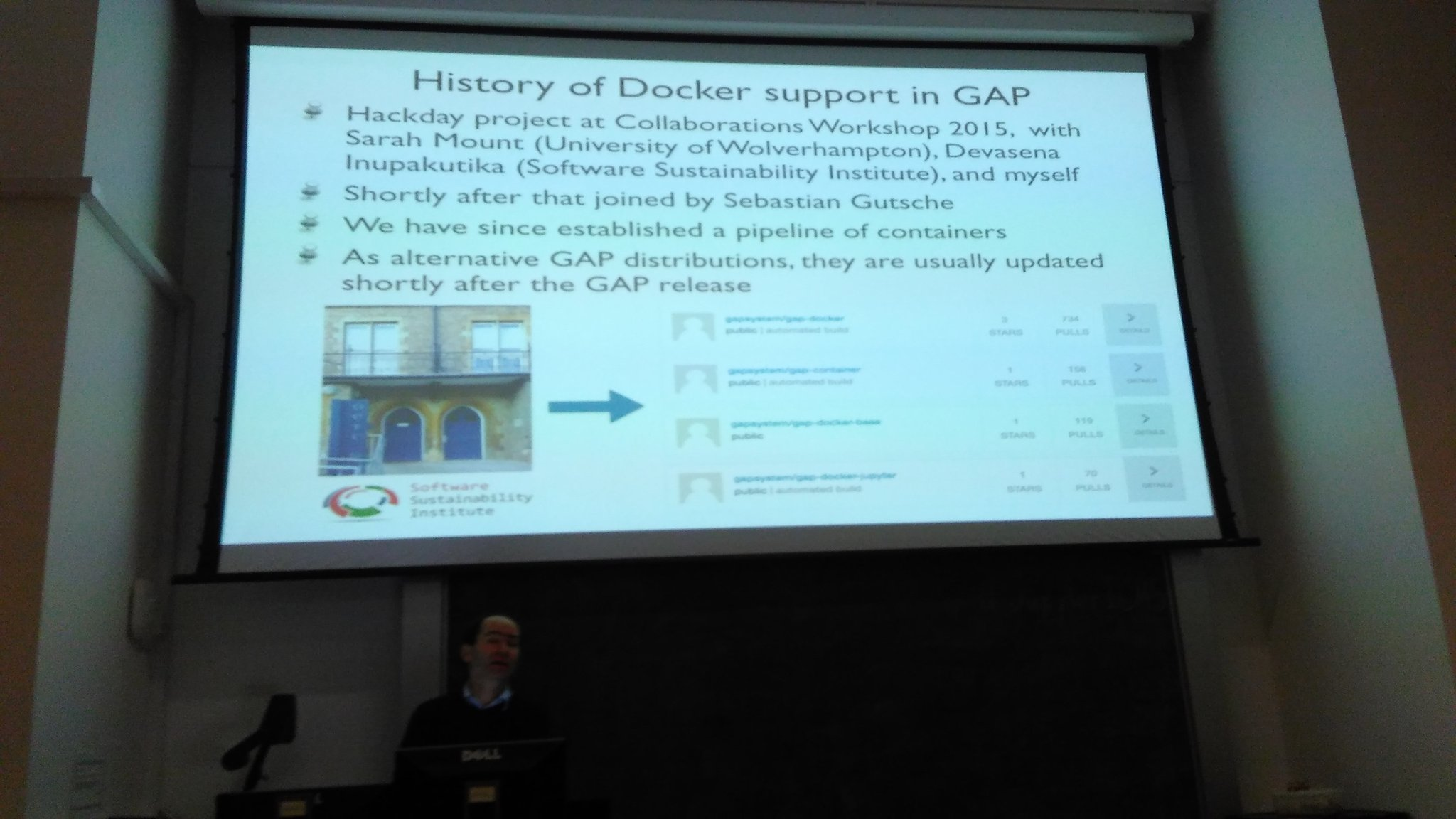 Thanks to @snim2. @devasenaivs, et al for @docker support in @gap_system. #JupyterICMS @SoftwareSaved @codima_project @OpenDreamKit https://t.co/5bL8MLjrXb