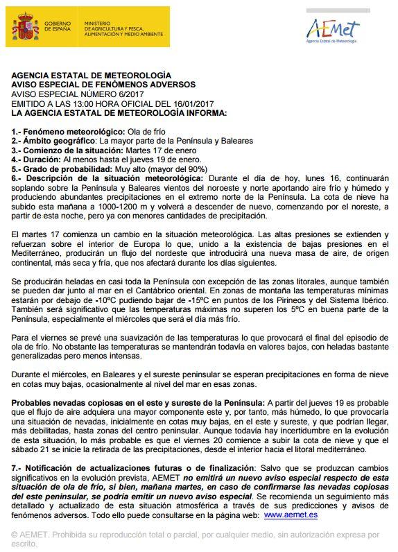 #FMA Actualizado #aviso especial #OlaDeFrío https://t.co/tPe0jOLtZo ht...