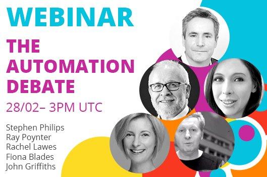 #Webinar - Register Now to attend the #Automation #Debate:  http:// goo.gl/sybHPL  &nbsp;    @RayPoynter @NewMR_News @FionaMESH @DrRachelLawes #MRX<br>http://pic.twitter.com/VBORhExU4t