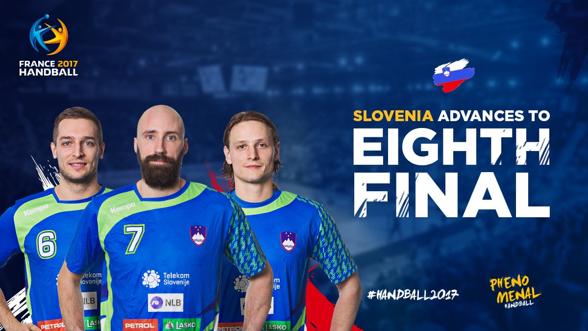 Slovenia is the first team officially qualified for the eighth finals...