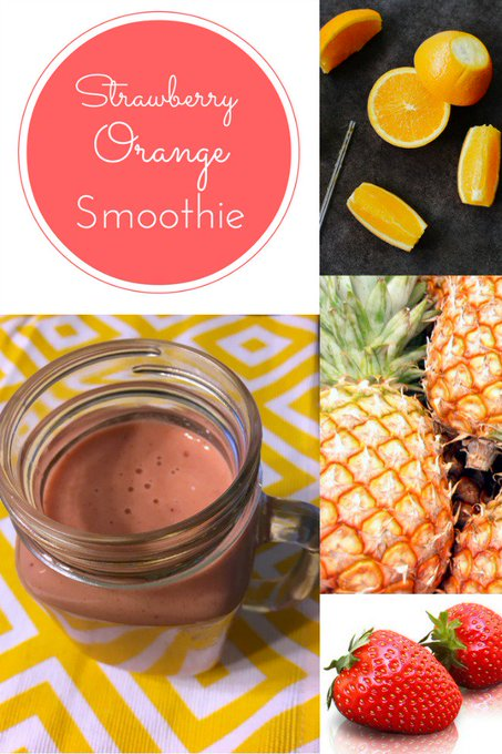 Yummy Strawberry Orange Smoothie: