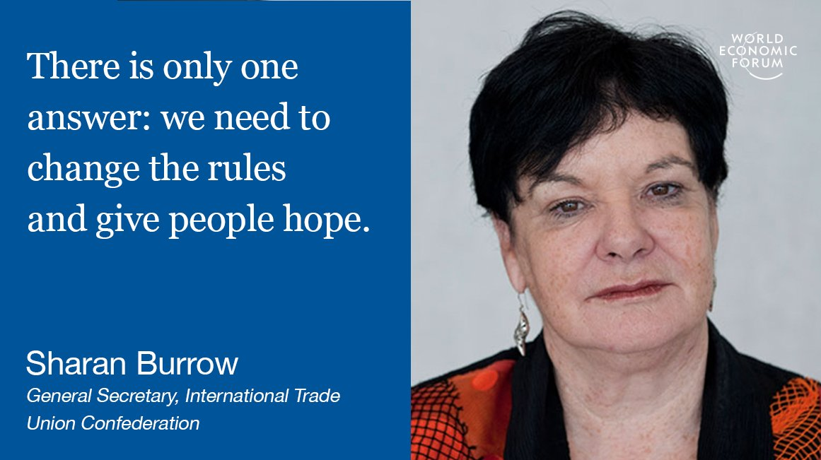 The global economy is failing @sharanburrow #fightinequality #wef17 #davos https://t.co/LpKfFqDU6E