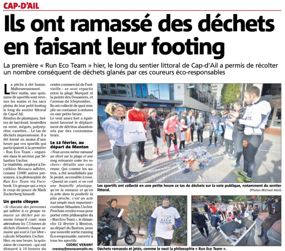 Ils ont ramassé des déchets en faisant leur #footing Bravo @AudreyLJBovini @Jartagnan @DecathlonMC @Decathlon  #RunEcoTeam #Running #Monaco<br>http://pic.twitter.com/Zu7lxYQLza