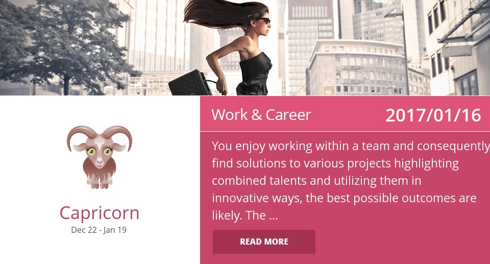 Jan 16, 2017: Work Horoscope => See more: https://t.co/CiJVVVS19y Accurate? Like = Yes #Capricorn #Horoscope https://t.co/4xFOW9Dx5d