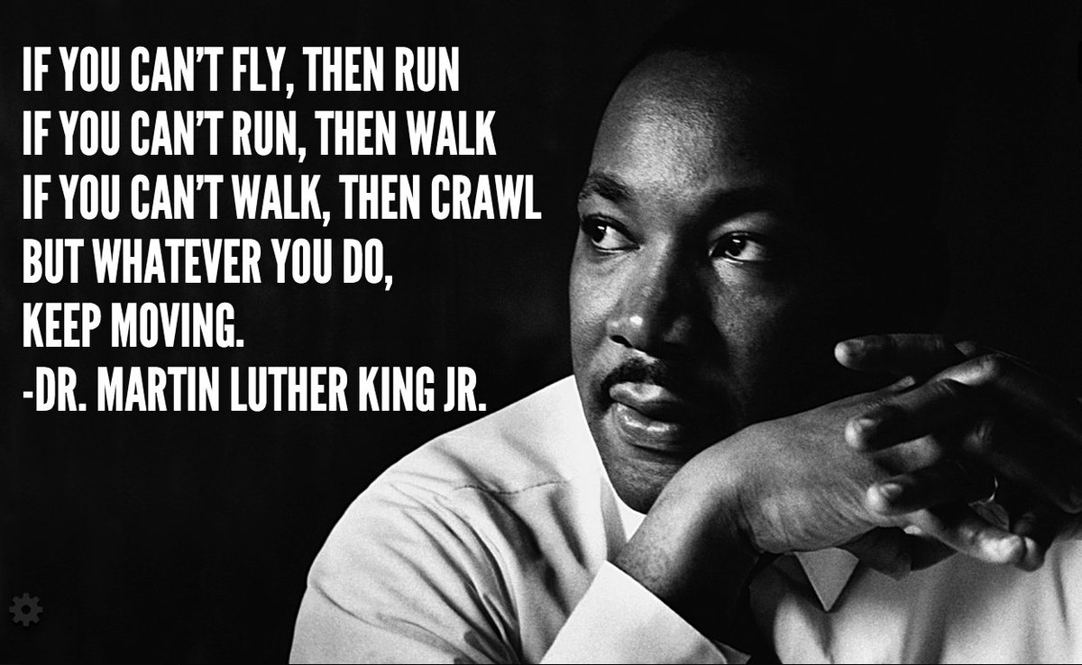 Keep. Moving. #MondayMotivation #MLKDay https://t.co/k4cHwwdaNe