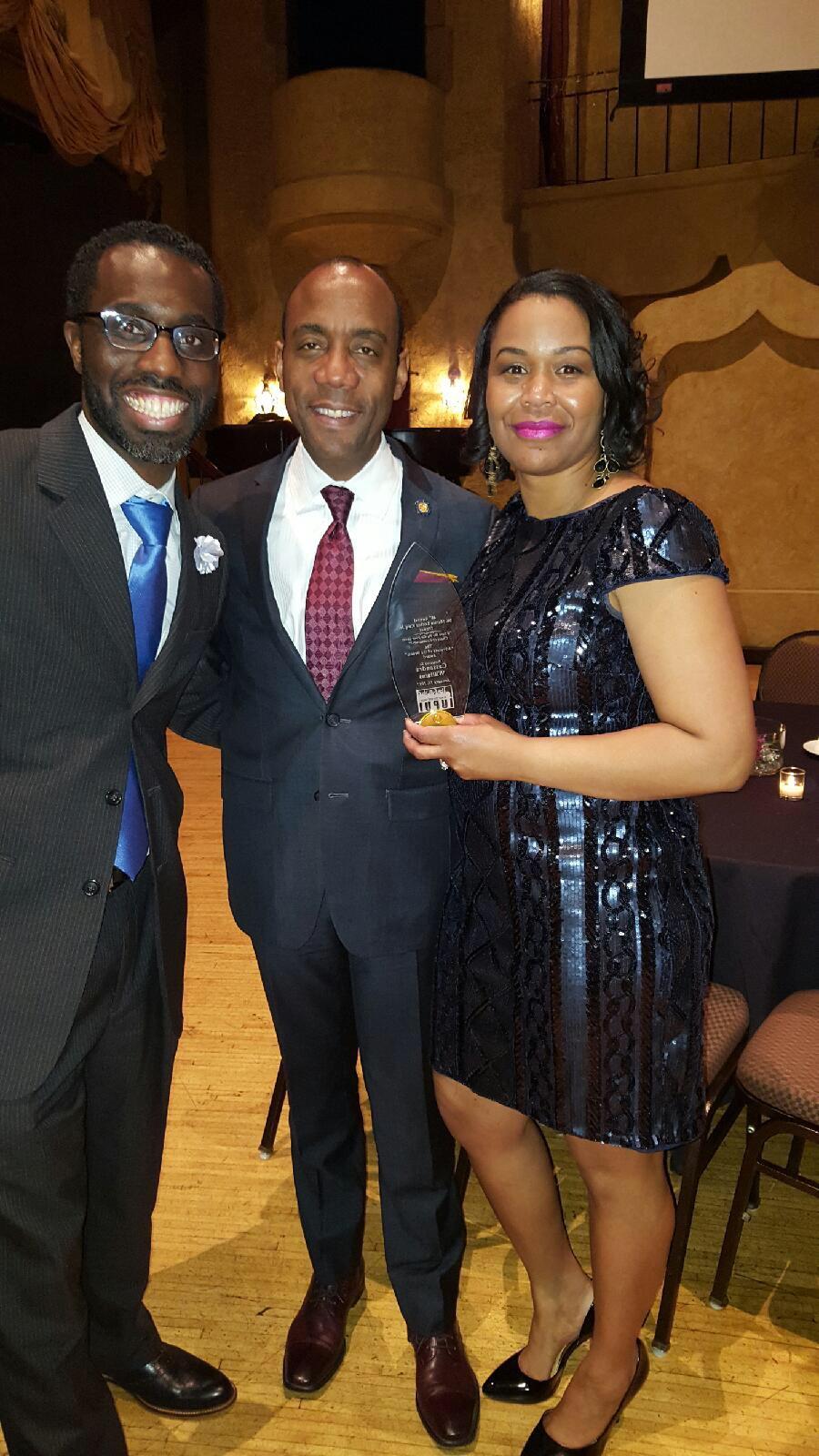 Awesome IUPUI Black Student Union MLK Dinner with Dream Award Winner  #CassandraWilliams and great speaker @CornellWBrooks #liberalartsworks https://t.co/0ZHlPjdeyg