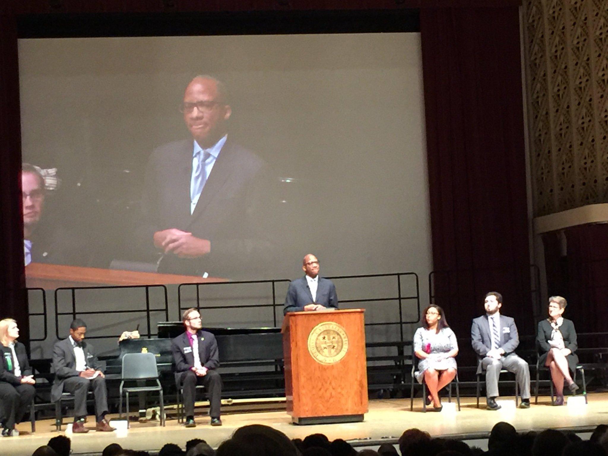 Wil Haygood offers the Gay S. Steele Keynote Address @Capital_U #MLKDayOfLearning. #Columbus #Ohio #LawSchool https://t.co/o4v4WTxezU