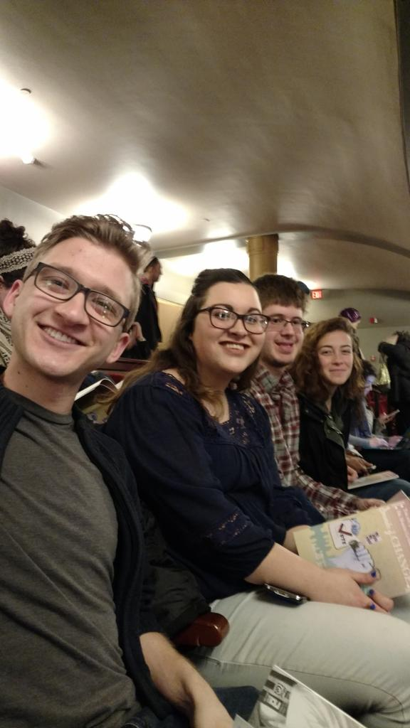 Some of the many Dems here at Hill Auditorium excited to see Issa Rae and Amy Goodman! #UmichMLKDay2017 https://t.co/JT8tBkQl5d