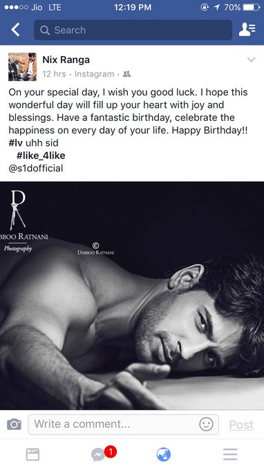 Happy birthday sidharth malhotra    plzz see mah post
