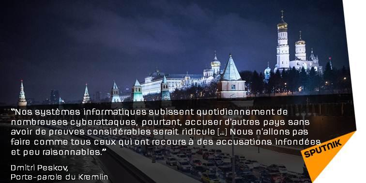 Le #Kremlin subit aussi des #cyberattaques, mais n'accuse personne  http:// sptnkne.ws/dqAQ  &nbsp;     #Peskov #Russie #EtatsUnis <br>http://pic.twitter.com/7KFdYjMSQx