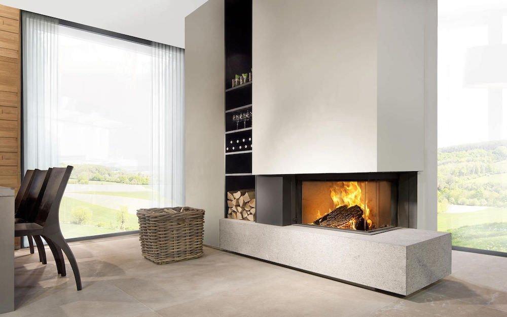 stunning stunning estufas modernas de lea with estufas modernas de lea chimeneas de lea modernas with salones con chimeneas de lea - Chimeneas Modernas De Lea