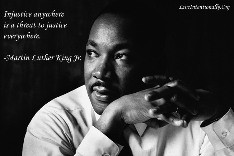 Injustice anywhere is a threat to justice everywhere. -Martin Luther King Jr. https://t.co/Mi0Iy9bdnJ