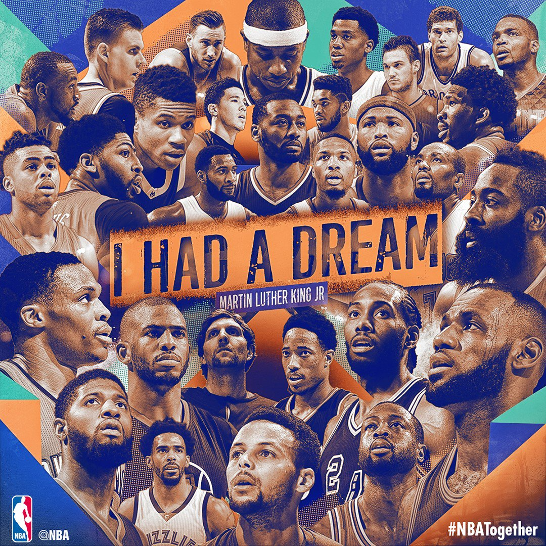 We honor the legacy of Dr. Martin Luther King, Jr  #NBATogether #ThisIsWhyWePlay https://t.co/oDt5hlv8UM