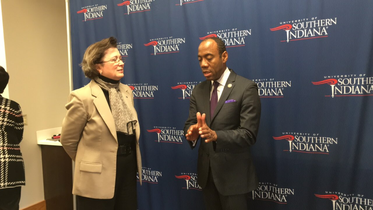 @CornellWBrooks about to speak at @USIedu for the MLK luncheon...pre-interview was inspiring! https://t.co/hOhQtgNwof