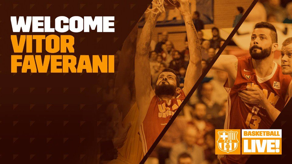 👏  Vitor Faverani signs with Barça Lassa basketball. Welcome to Barcelona! https://t.co/WtecGUU9my https://t.co/QpdwgSStRE
