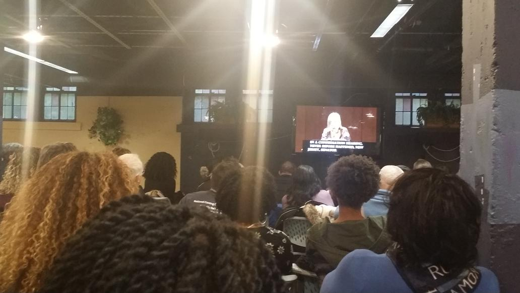 In the cozy overflow room at #UMichMLKDay2017 Symposium listening to @AmyGoodman's talk. Also looking forward to hearing @IssaRae!! #mlkday https://t.co/UG6g7r5tM8