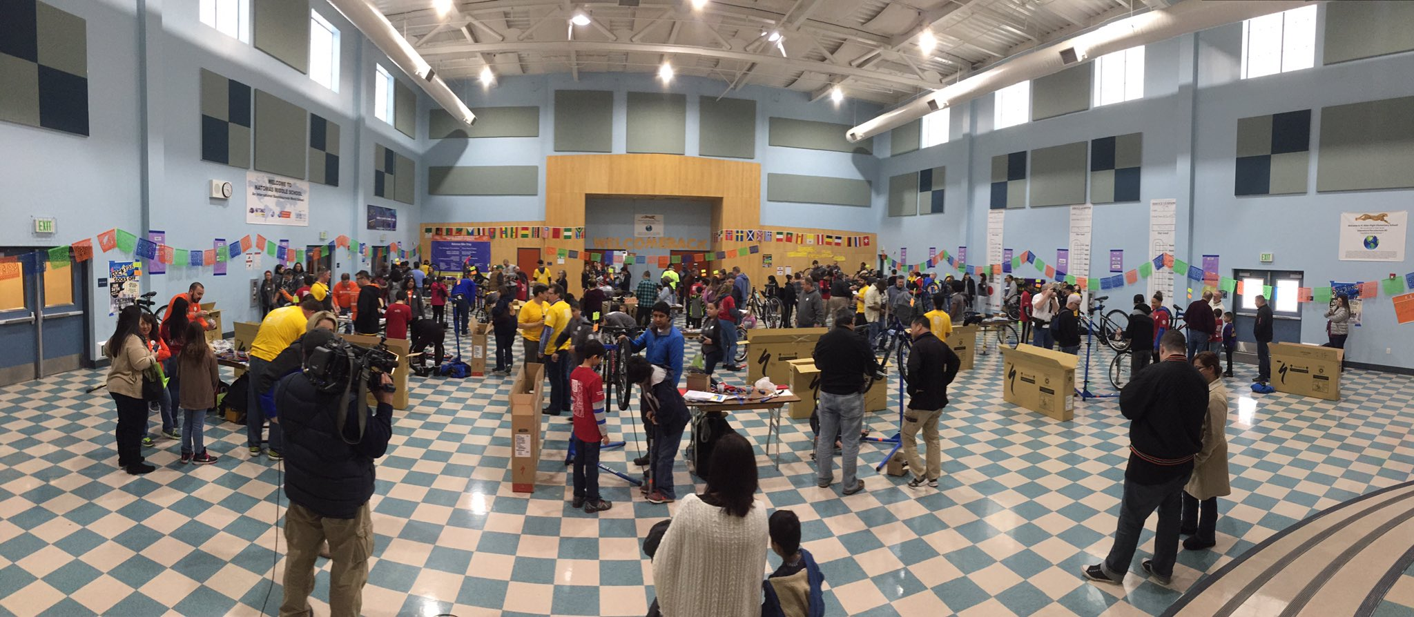 Great event on #MLKDAY.  50 Bikes for 50 Kids in #Natomas. #50Bikes2017. @NorthNatomasTMA https://t.co/bHY5YgB1gH