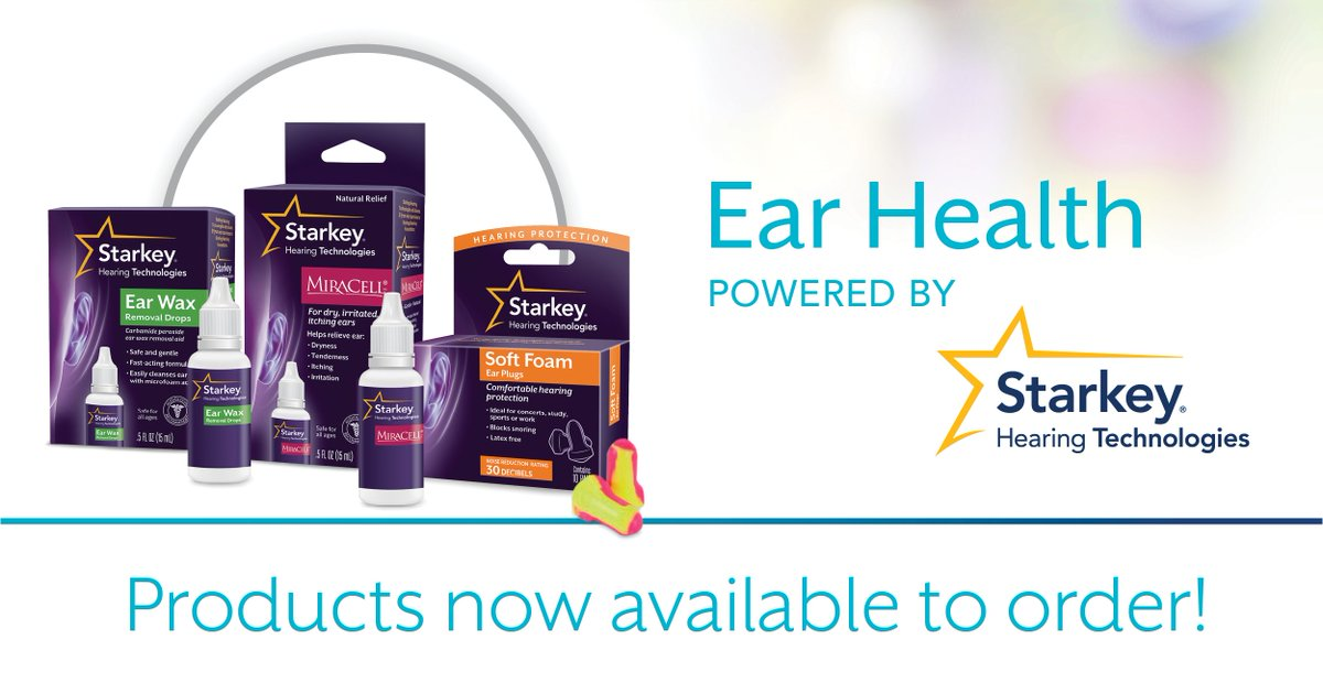 ATTENTION #hearing professionals: #EarHealth Products are now available for ur practice! Info @  https:// earhealth.starkey.com  &nbsp;  . Order @ our eStore!<br>http://pic.twitter.com/sIwnc8xtZW