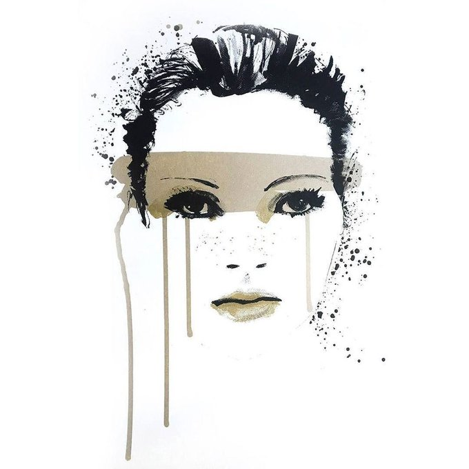 HAPPY BIRTHDAY KATE MOSS! \Kate The Great\ by Caroline Tomlinson, available from our online gallery.. Edition of 50