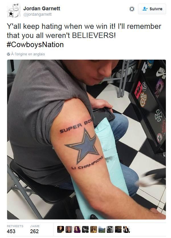 Un autre champion qui a sans doute quelques remords aujourd&#39;hui! #NFL #Cowboys <br>http://pic.twitter.com/rxLnEIGowX