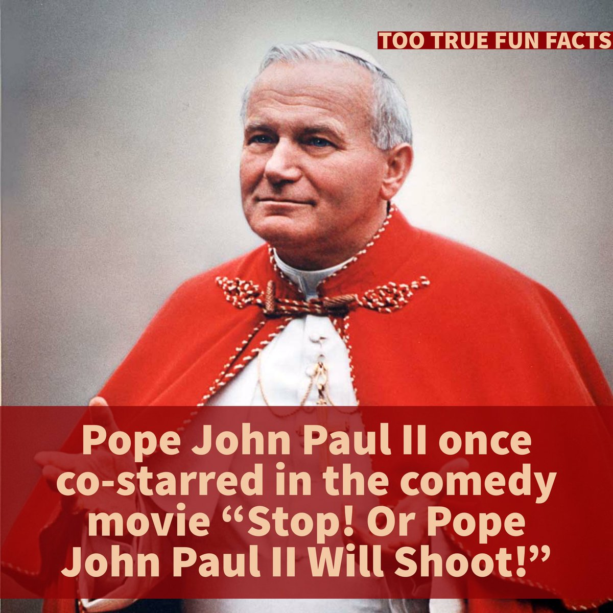 Too True Fun Facts On Twitter Good Movie Pope Movies