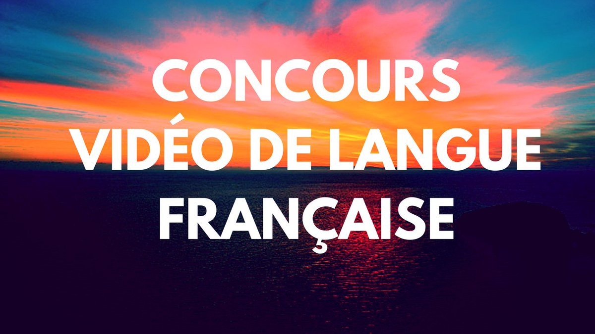 We are proud to announce the third annual Concours Vidéo de langue française!  https://www. youtube.com/watch?v=XQ_3N2 ecAWA &nbsp; …  #AmFr #NY #CT #MA #ME #RI #VT #NH<br>http://pic.twitter.com/5g29Onf5Va