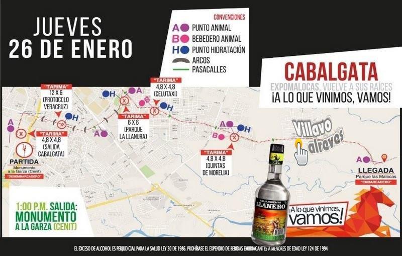 #Cabalgata Jueves 26 de Enero #Villavicencio Ruta: Monumento al Cenit - La Primavera - Villacentro - Postobón - Macal - Terminal - Malocas.<br>http://pic.twitter.com/65U8qjYMS4