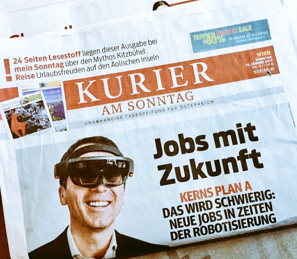 In #Austria, where even the Chancellor wears @HoloLens we need more Te...