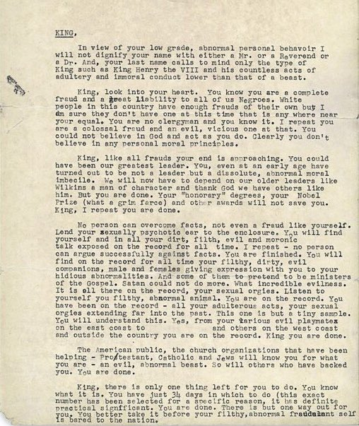 That time the @FBI suggested that #MLK should kill himself. #MLKDAY #ReclaimMLK https://t.co/GM7r9dh5LZ