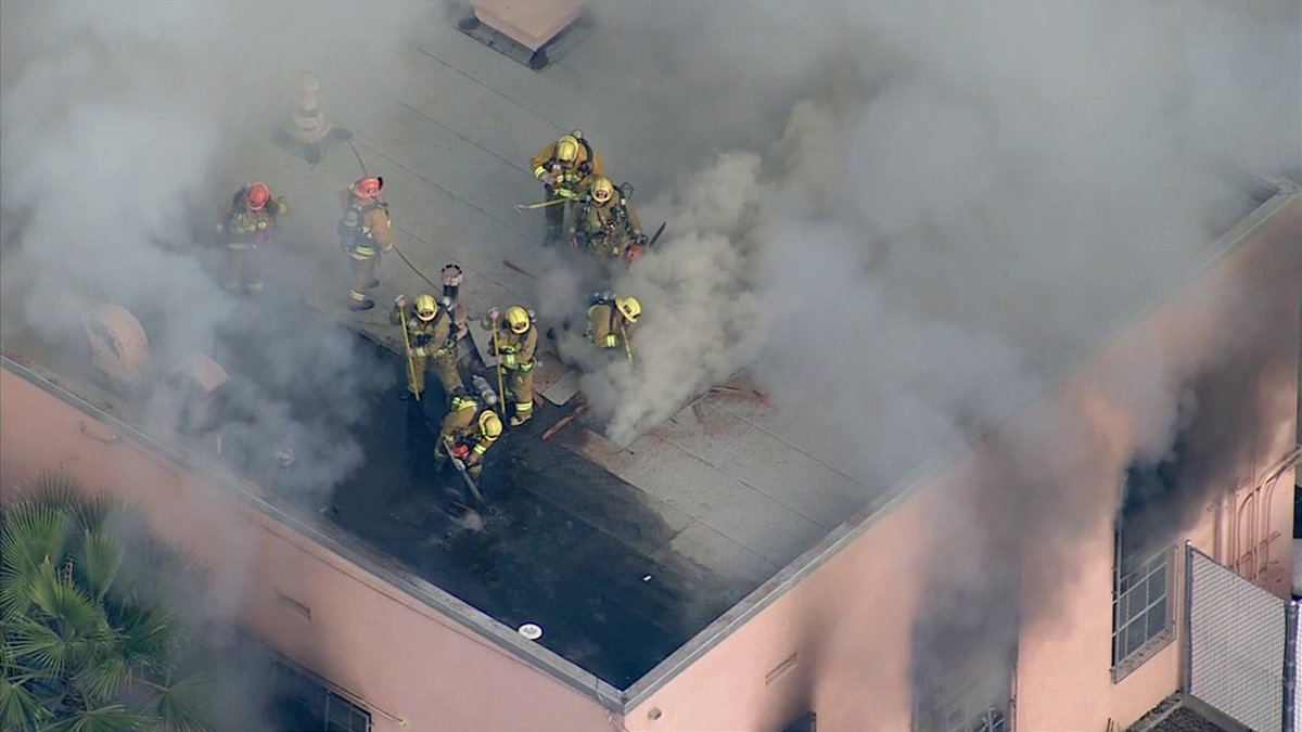 THIS JUST IN: Firefighters extinguish fire in unoccupied building at Emerson Middle School in Westwood