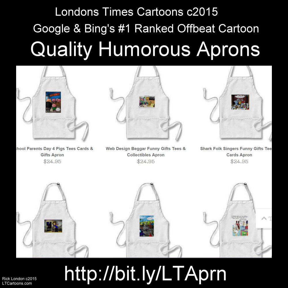 30%off #comic #Aprons EndsThu Code SURPRISEDEAL @c/o @LTCartoons @zazzle #humor #kitchen https://t.co/JPLcRjkzJa https://t.co/QNePrvB0y2