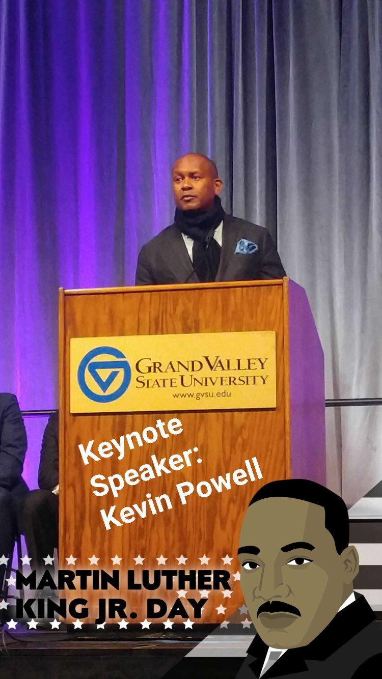 The Keynote Speaker for GVSU's MLK Day Celebration is renowned activist @kevin_powell who is a brother of Alpha Phi Alpha @gvsu https://t.co/bmK9mCj3qj