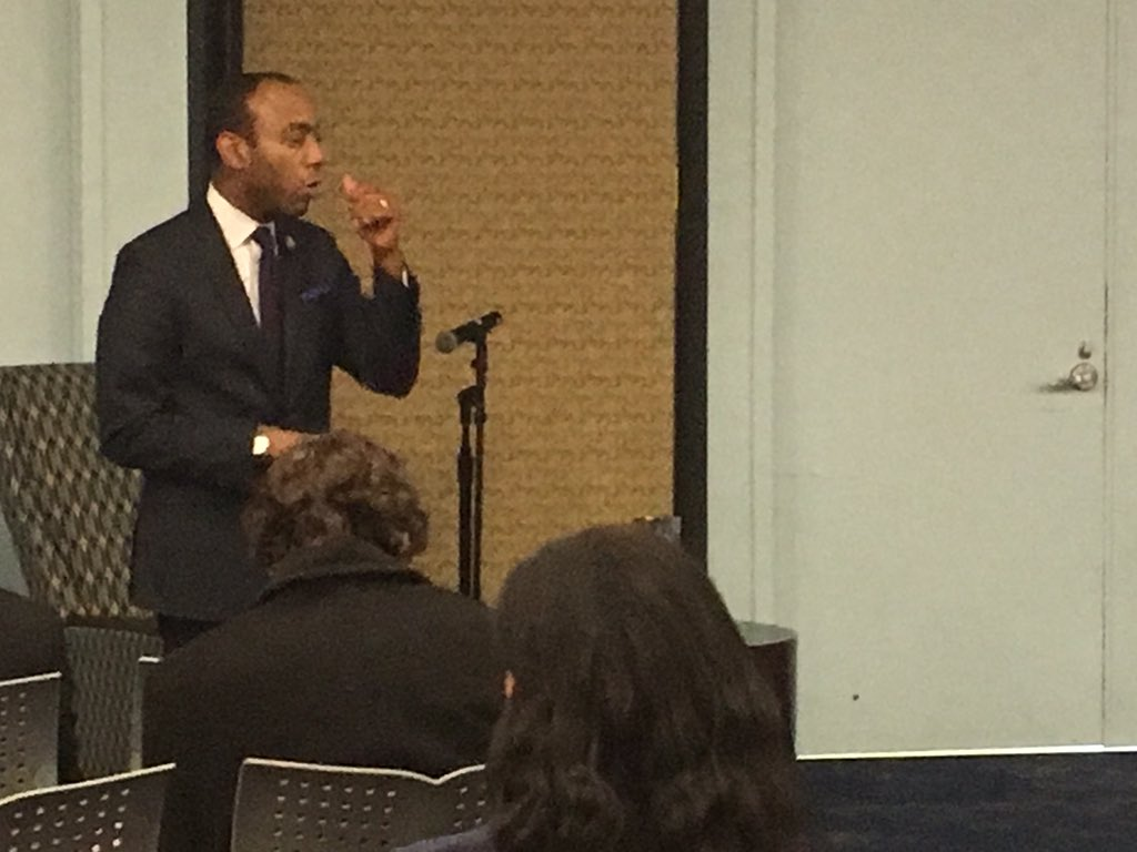 After his inspiring keynote address, @CornellWBrooks is taking questions and addressing his journey into law and social justice. #USIMLK https://t.co/SrwCL1p2o3