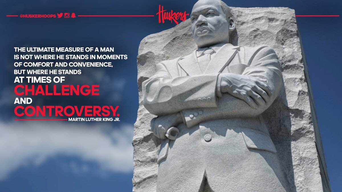 Time to measure up 📏  #MLKDAY  #Nebrasketball🌽🏀✊️