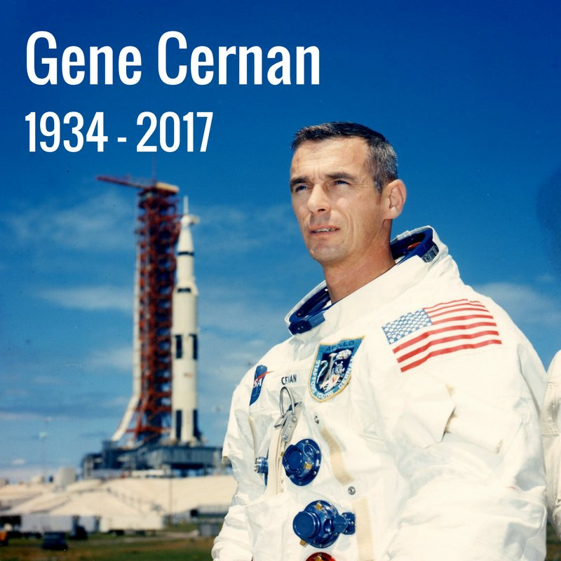 We are saddened by the loss of retired NASA astronaut Gene Cernan, the last man to walk on the moon. https://t.co/Q9OSdRewI5