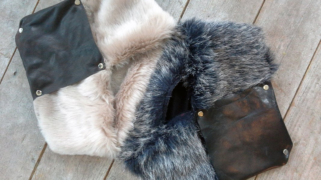FAKE = FABULOUS! @Arnhemstore #scarves #fake #fur #leftover #leather #textile #recycle #sustainable #unique #streetstyle #streetwear #design<br>http://pic.twitter.com/T4BIBN8bxm