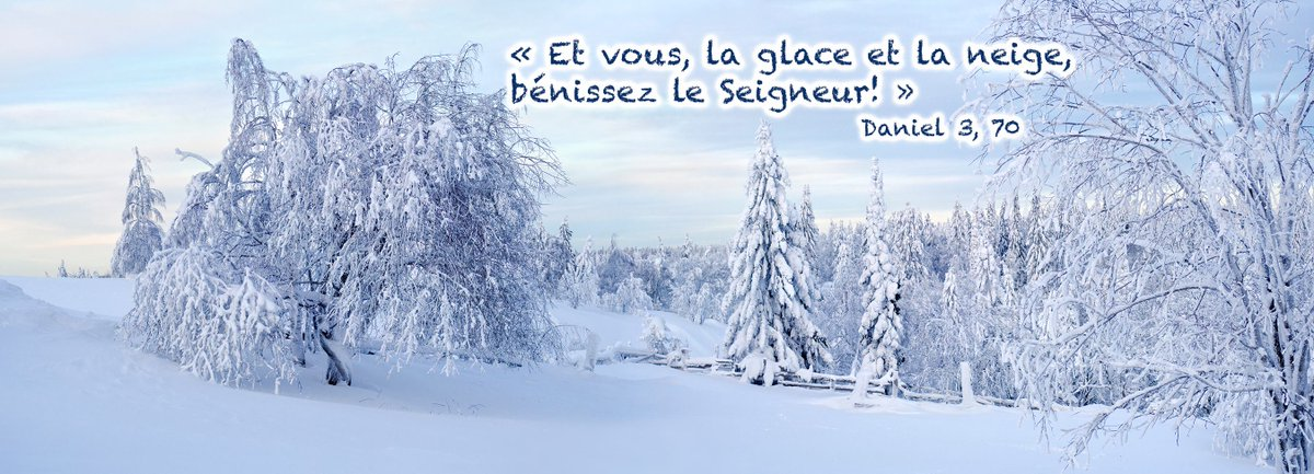 « Et vous, la glace et la neige, bénissez le Seigneur! » Daniel 3, 70 #Québec #Canada<br>http://pic.twitter.com/fDpJs2AwlV