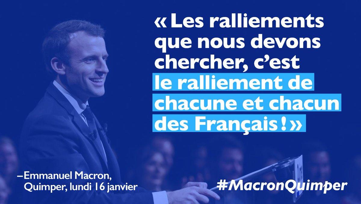.@EmmanuelMacron le candidat du rassemblement de l&#39;ensemble des Français. #MacronQuimper #EnMarche #YesWeWalk  <br>http://pic.twitter.com/yX9eNdiEc7
