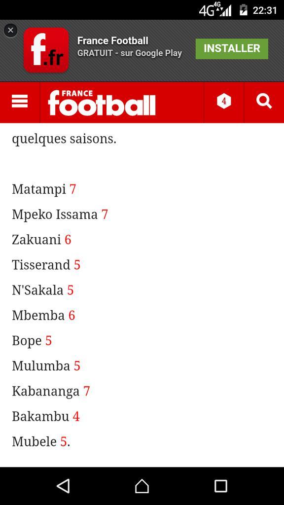 can2017 rdcongo maroc 1 0 les notes des lopards francefootball matampi issama et kabananga ont la note la plus leve rdcmarpictwittercom