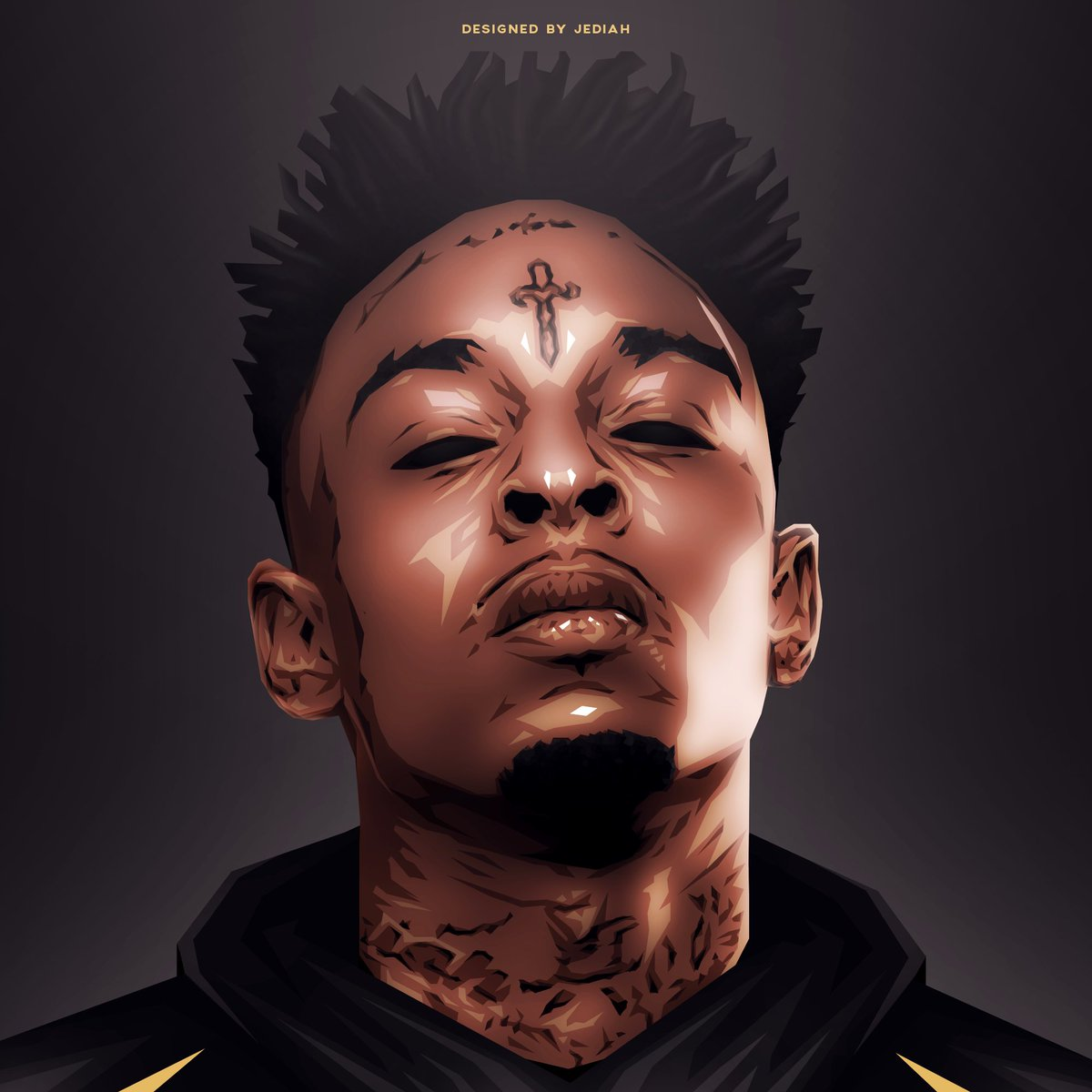 king jediah 愛 on twitter 21 savage artwork designed by me rts
