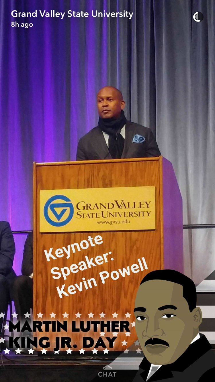 I appreciate @kevin_powell coming to @GVSU to share the vision of Dr. King, and explaining how there is more work to be done to complete it. https://t.co/thAn7EZDAP