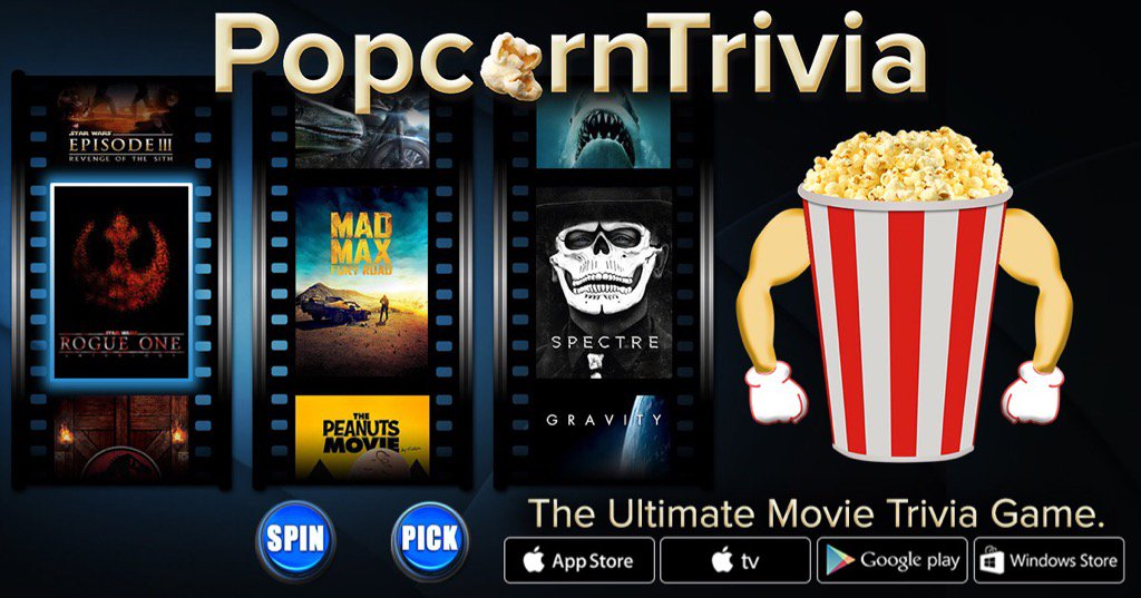 @PopcornTrivia - The Ultimate Movie Trivia Game. popcorntrivia.com/app.php