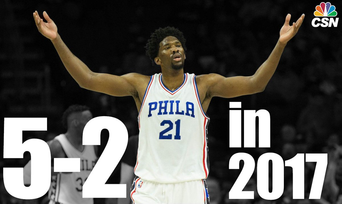 The Sixers are 5-2 in 2017.   Joel Embiid #NBAVote https://t.co/SXgZtDPYf4