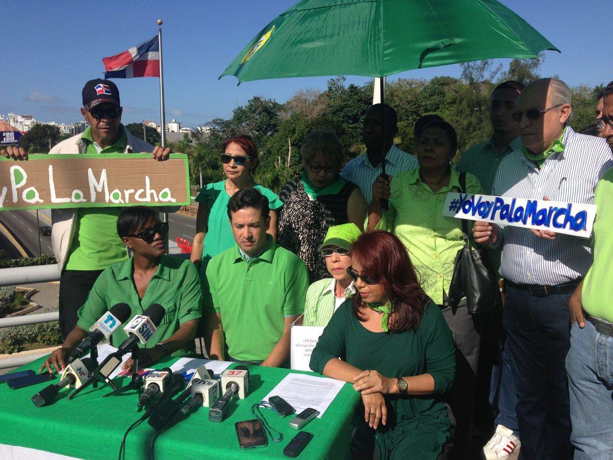 De verde, color esperanza #RDMarcha para decir basta ya de impunidad. #22E https://t.co/0BjhatbwLy